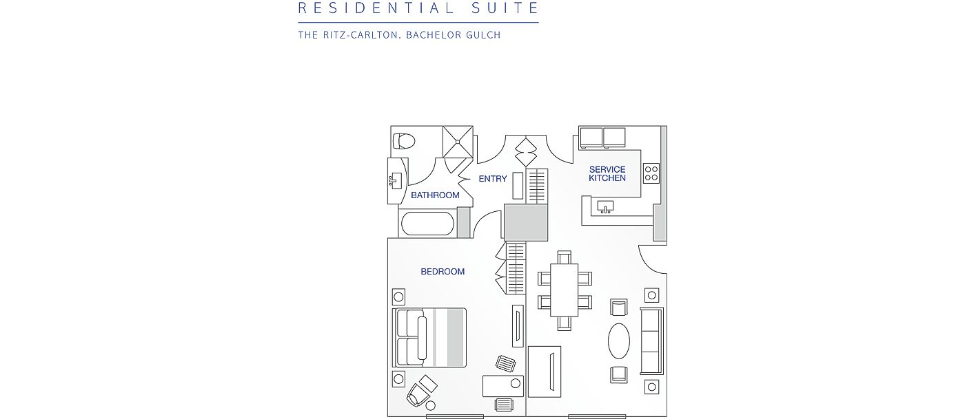Floor Plan for Beaver Creek | Ritz-Carlton | 1 Bedroom Residential Suite