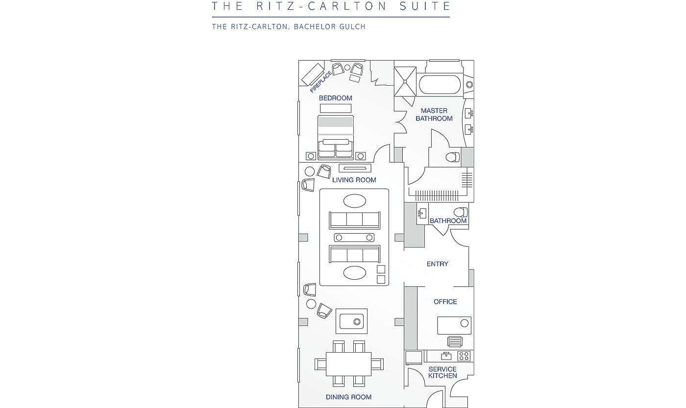 Floor Plan for Beaver Creek | Ritz-Carlton | 2 Bedroom Residential Suite