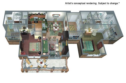 Floor Plan for Aspen CO | Ritz-Carlton | 3 Bedroom Penthouse